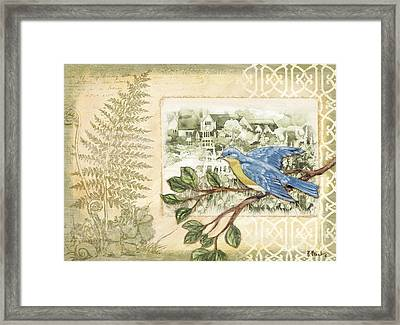 Feathers And Ferns II Framed Print