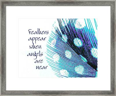 Feathers Appear Framed Print
