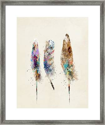 Feathers Framed Print by Bri B