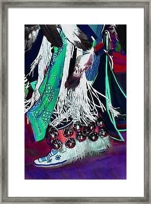 Feathers Fringe And Bells Framed Print by Kae Cheatham