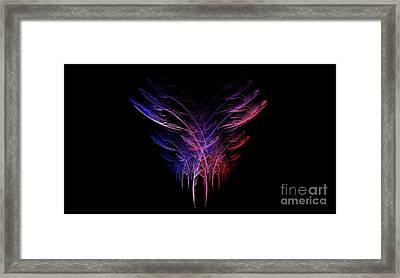 Feathers In Motion Framed Print by Amanda Collins