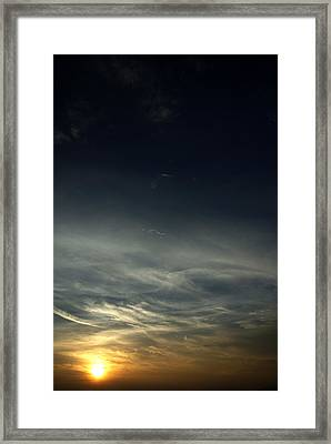 Feathery Clouds Framed Print