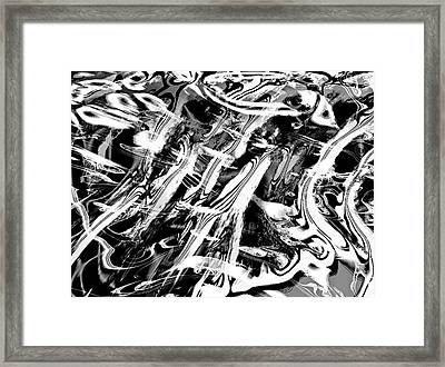 Black And White Abstract Framed Print