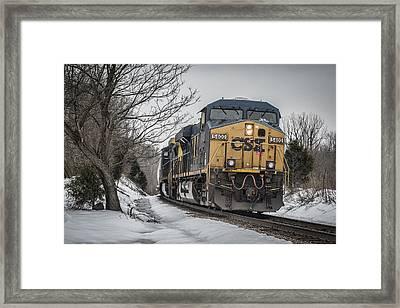 February 26. 2015 - Csx Q596 Framed Print