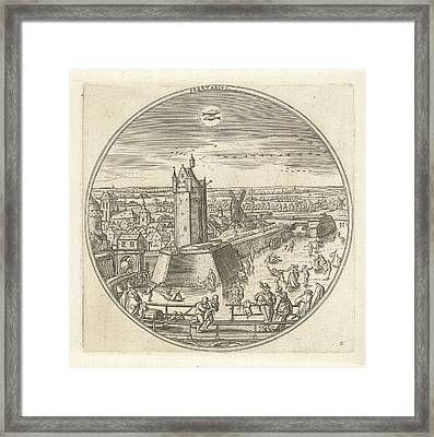February, Adriaen Collaert, Hans Bol Framed Print by Adriaen Collaert And Hans Bol And Claes Jansz. Visscher (ii)