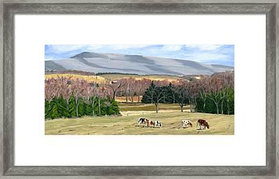 February At Bear Meadows Farm Framed Print