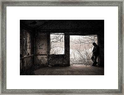 February - Comfortable Seclusion - Self Portrait Framed Print