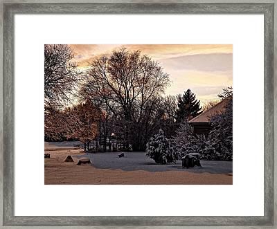 February Evening Light Framed Print by Aliceann Carlton