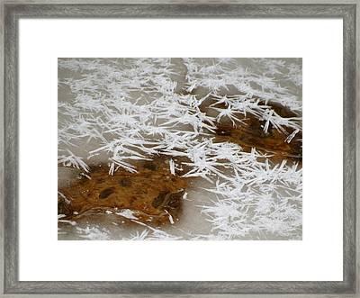 February Ice Framed Print