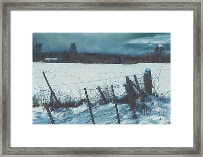February Framed Print by Jutta Maria Pusl