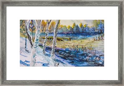February Morn Framed Print