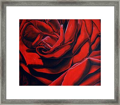 Framed Print featuring the painting February Rose by Thu Nguyen