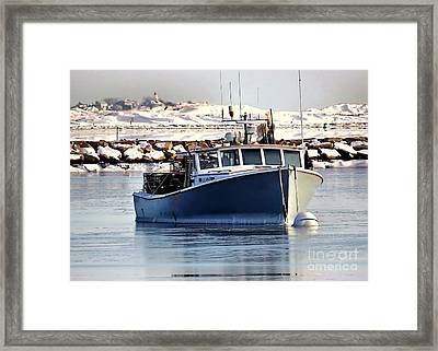 February Seascape Framed Print