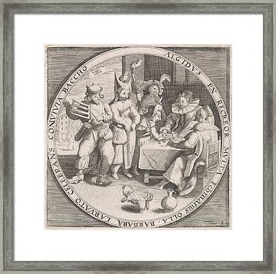 February Shrove Tuesday, Print Maker Anonymous Framed Print by Anonymous And Crispijn Van De Passe I And Maerten De Vos