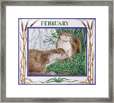 February Wc On Paper Framed Print by Catherine Bradbury