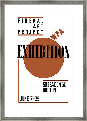 Federal Art Project Wpa Exhibition  Framed Print by War Is Hell Store