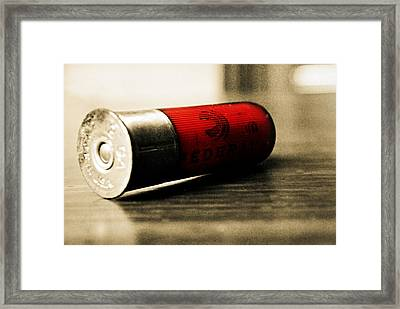Federal Bullet Framed Print by Chastity Hoff