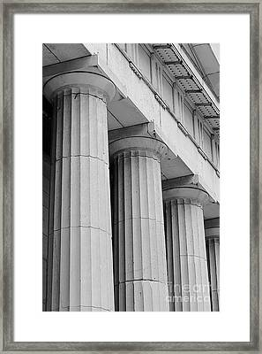 Federal Hall Columns Framed Print by Jerry Fornarotto