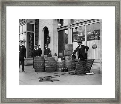 Federal Prohibition Agents 1923 Framed Print