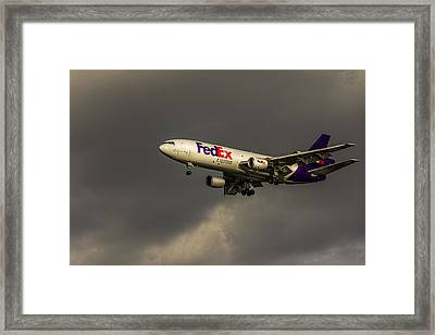 Fedex 052 Heavy Cleared To Land Framed Print by Marvin Spates