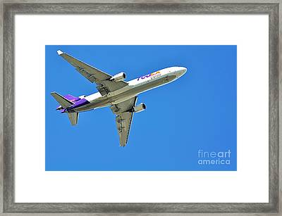 Fedex At Work Framed Print by Kaye Menner