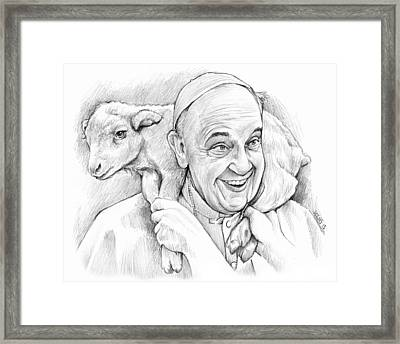 Feed My Sheep Framed Print by Greg Joens
