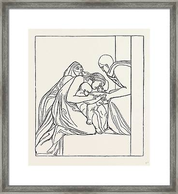 Feed The Hungry From A Bas-relief Of John Flaxman Framed Print