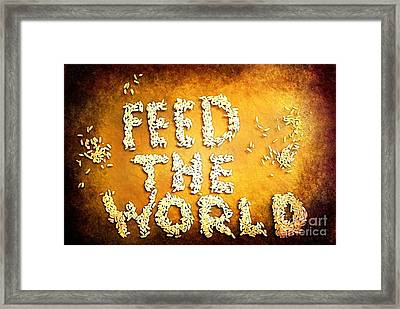 Feed The World Framed Print
