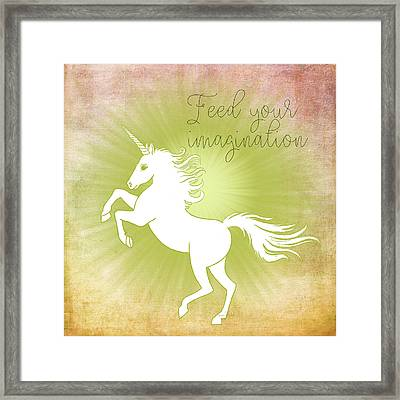 Feed Your Imagination Framed Print