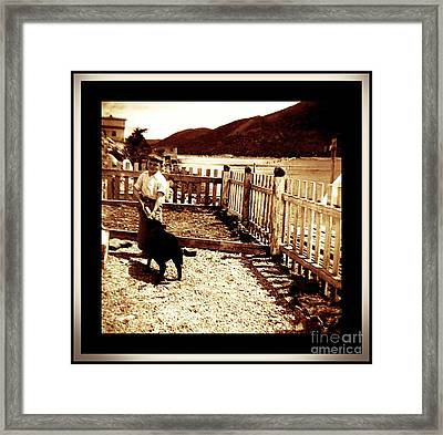 Feeding My Little Black Lamb Framed Print by Barbara Griffin