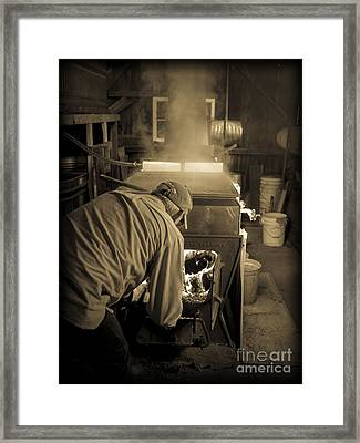 Feeding The Beast Framed Print by Edward Fielding