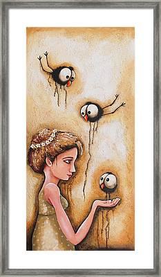 Feeding The Crows Framed Print by Lucia Stewart
