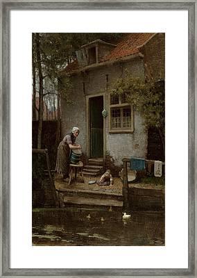 Feeding The Ducks Framed Print