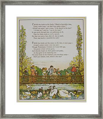 Feeding The Ducks In St. Jame's Park Framed Print by British Library