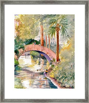 Feeding The Ducks Framed Print by Marilyn Smith