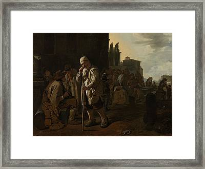 Feeding The Hungry, Michael Sweerts Framed Print by Litz Collection