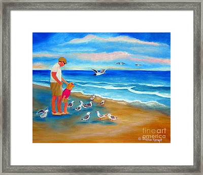 Framed Print featuring the painting Feeding Time by Shelia Kempf