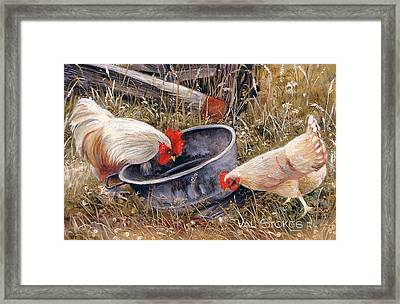 Feeding Time Framed Print by Val Stokes