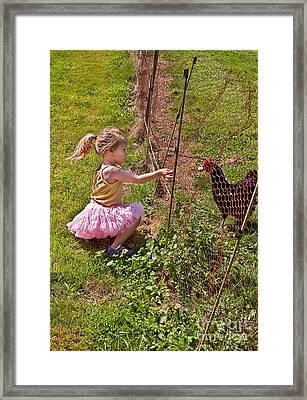 Feeding Time Framed Print by Valerie Garner