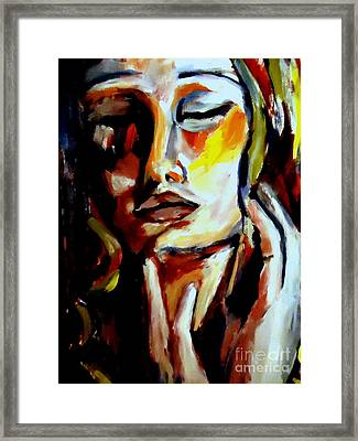 Framed Print featuring the painting Feel by Helena Wierzbicki