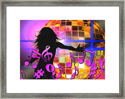 Feel Like Dancing Framed Print by Georgiana Romanovna