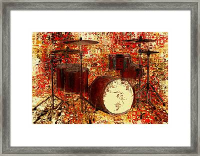 Feel The Drums Framed Print