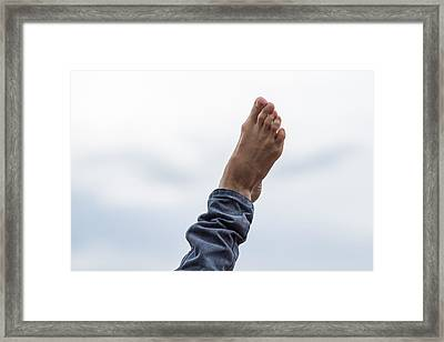 Feel  The Skies Under Your Foot - Featured 2 Framed Print by Alexander Senin