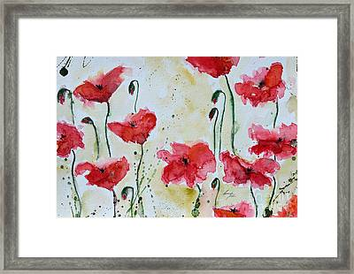 Feel The Summer 1 - Poppies Framed Print by Ismeta Gruenwald
