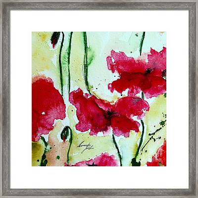 Feel The Summer 2 - Poppies Framed Print by Ismeta Gruenwald