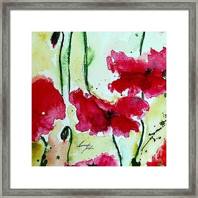 Feel The Summer 2 - Poppies Framed Print by Ismeta Gruenwald