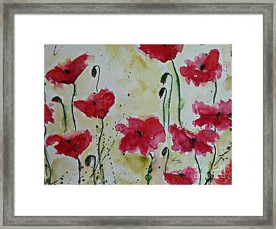Feel The Summer - Poppies Framed Print by Ismeta Gruenwald