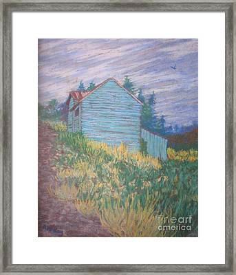 Feelin' Blue In Troutdale Framed Print