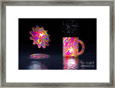 Framed Print featuring the digital art Feelin' Groovy by Jacqueline Lloyd