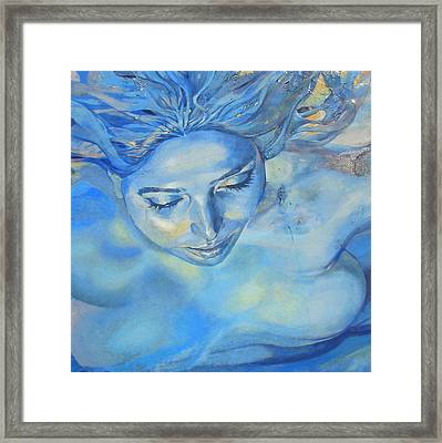 Framed Print featuring the photograph Feeling Blue by Ramona Johnston